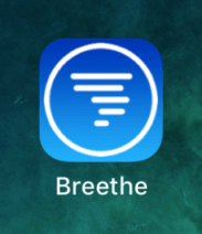 The Breethe app icon on the home screen
